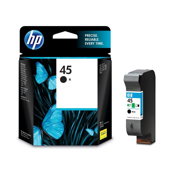【送料無料】(まとめ) HP45 プリントカートリッジ 黒 51645AA#003 1個 【×10セット】