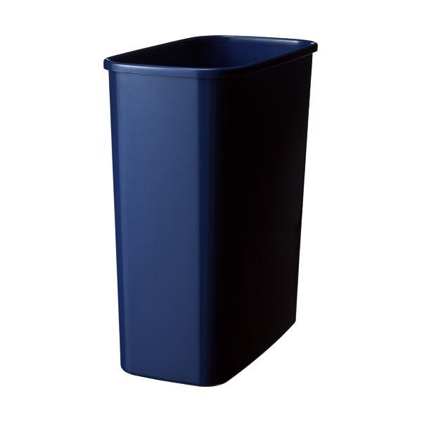 掃除用品 ゴミ箱 小型(くずいれ) 【送料無料】(まとめ) TANOSEE エコダストボックス 角型 M 15.5L ダークブルー 1個 【×30セット】