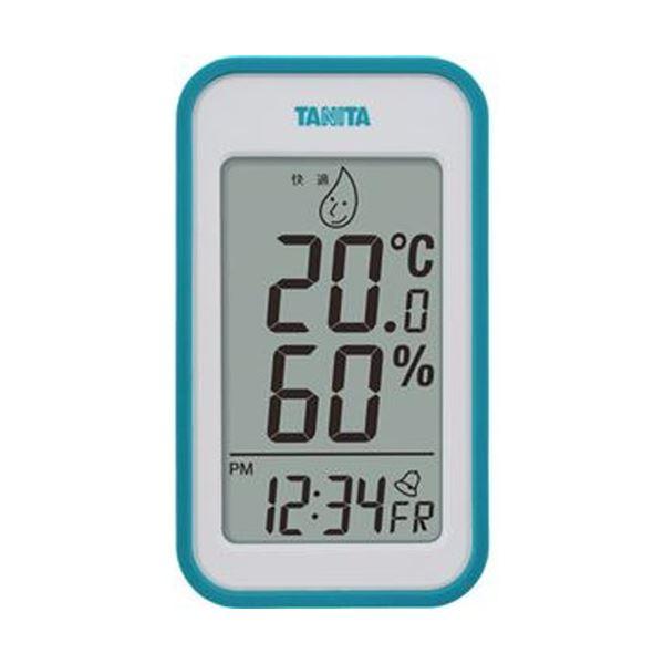 【送料無料】(まとめ)タニタ デジタル温湿度計 ブルーTT559BL 1個【×5セット】