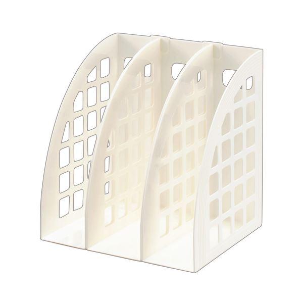 【送料無料】(まとめ) スガタ ファイルボックス A4 ホワイト FBXWH 1セット(3個) 【×10セット】
