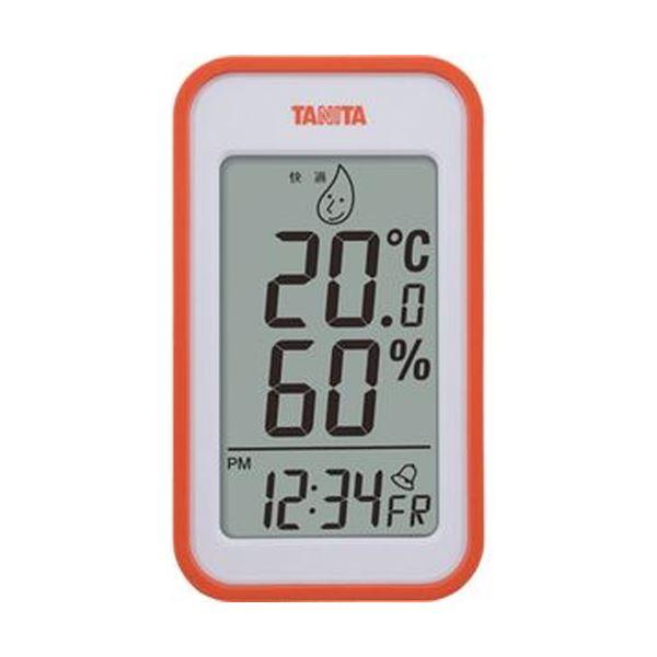 【送料無料】(まとめ)タニタ デジタル温湿度計 オレンジTT559OR 1個【×5セット】