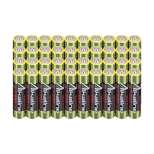 (まとめ)メモレックス・テレックス アルカリ乾電池単4形 LR03/1.5V40S 1セット(400本:40本×10パック)【×3セット】