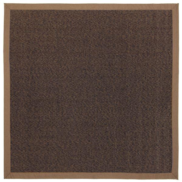 【送料無料】竹ラグ/ラグマット 【約180cm×180cm ブラウン】 正方形 表面:竹100% 弾力性抜群 『カナパ2』 〔リビング ダイニング〕【代引不可】