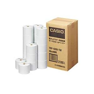 【送料無料】カシオ CASIO 電子レジスター用 ロールペーパー 紙幅58mm 感熱紙タイプ TRP-5880-TW 1パック(20個) 【×10セット】