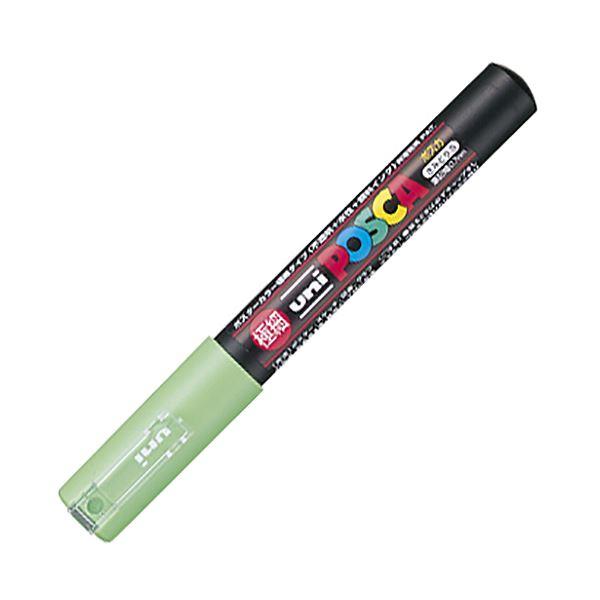 【送料無料】(まとめ) 三菱鉛筆 水性マーカー ポスカ 極細 黄緑 PC1M.5 1本 【×50セット】
