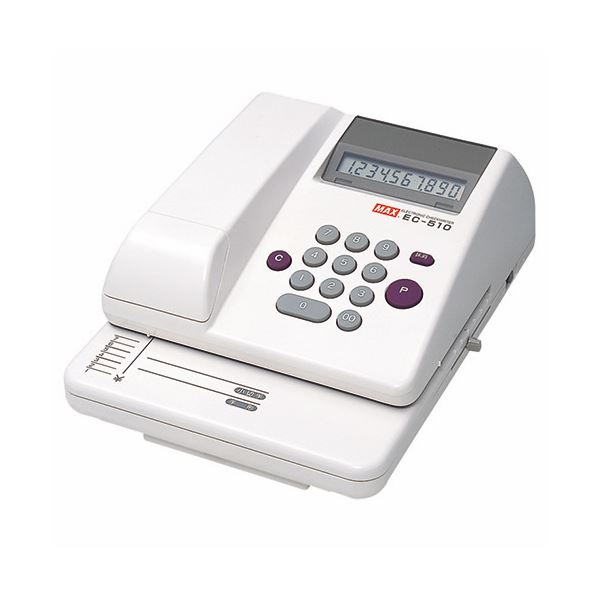 【送料無料】マックス 電子チェックライタ 10桁EC-510 1台