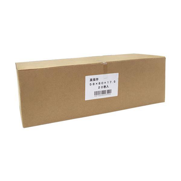【送料無料】(まとめ) 東芝テック テックレジロール高保存58×80×17.5mm 1箱(20巻) 【×10セット】