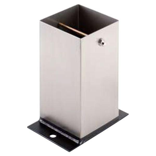 【送料無料】ステンレス箱型柱受 118mm 【0634-05003】