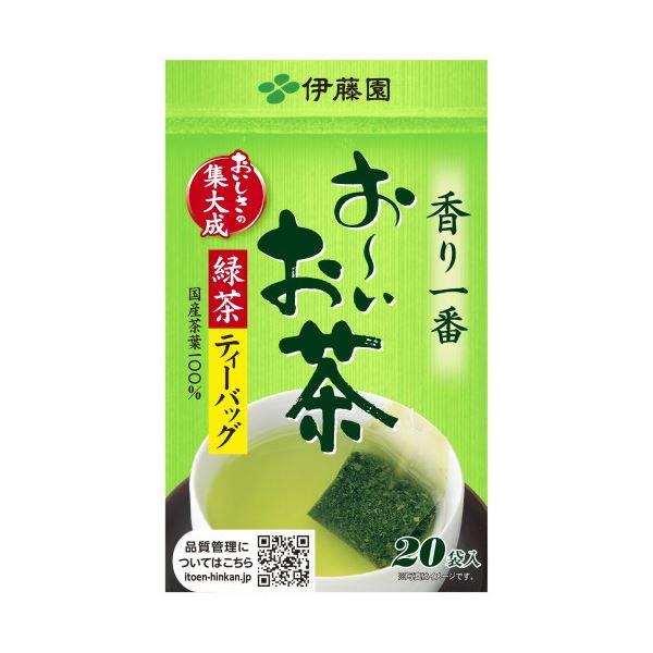 【送料無料】(まとめ)伊藤園 おーいお茶 緑茶ティーバッグ2.0g 1セット(60バッグ:20バッグ×3箱)【×10セット】