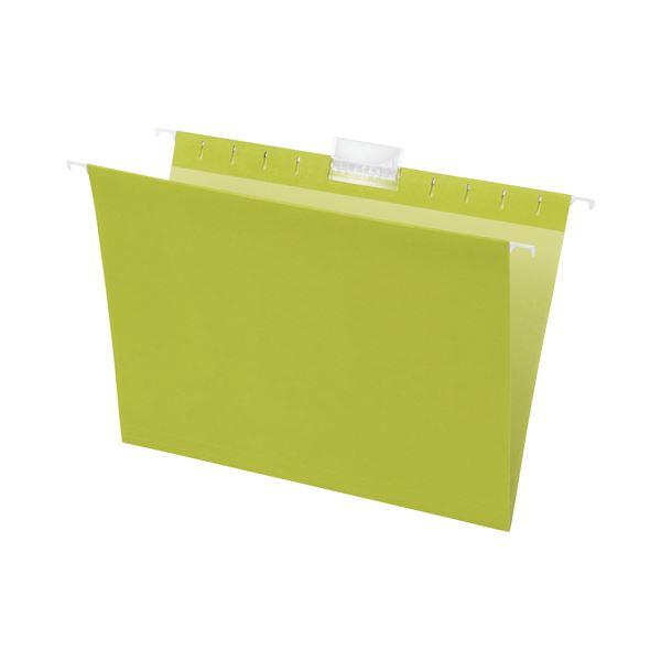 【送料無料】(まとめ) TANOSEE ハンギングフォルダー A4 グリーン 1パック(5冊) 【×30セット】