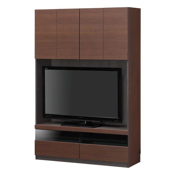 【送料無料】壁面テレビボード ポルターレ POR-1812TVDK【ダークブラウン】組立式【代引不可】