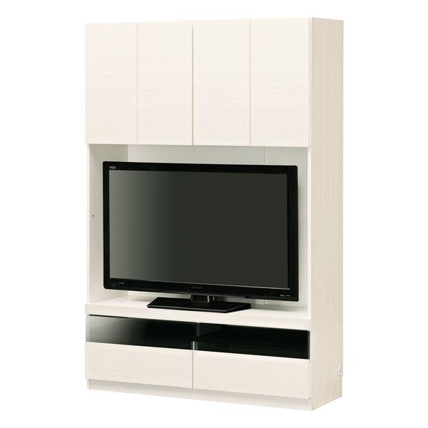 【送料無料】壁面テレビボード ポルターレ POR-1812TVWH【ホワイト】組立式【代引不可】