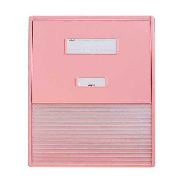 【送料無料】リヒトラブ カラーカードインデックスA3(A4タテ2面)16ポケット ピンク HC114C-4 1冊