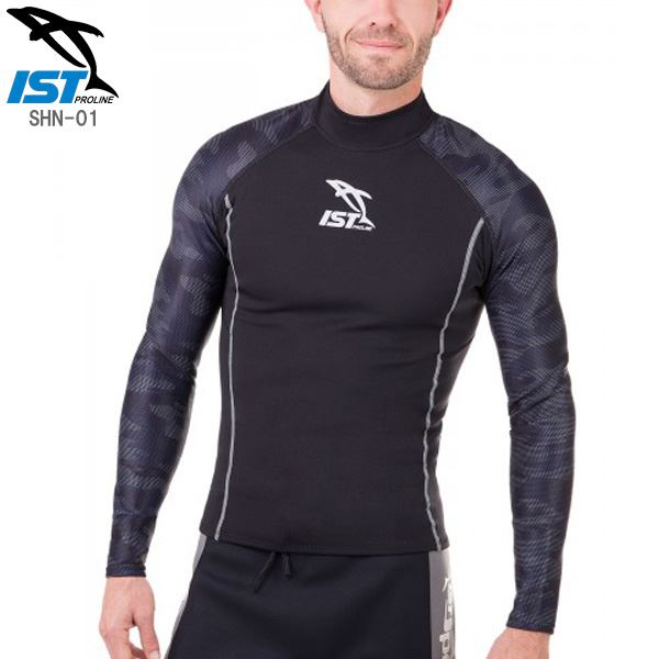 【送料無料】ウェットスーツ タッパー/インナー 【メンズ ブラック Sサイズ】 1.5mm 保温性 『ISTPROLINE SHN-01』 〔ダイビング〕