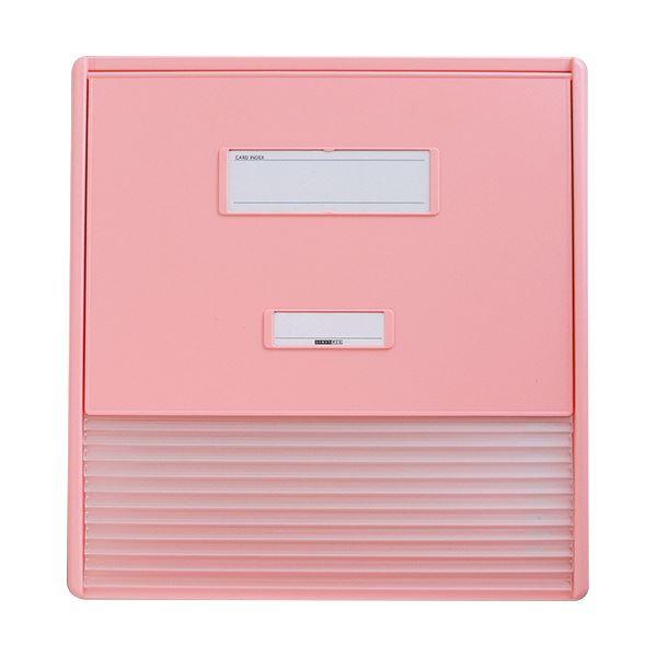 【送料無料】リヒトラブ カラーカードインデックスA3(A4タテ2面)11ポケット ピンク HC113C-4 1冊