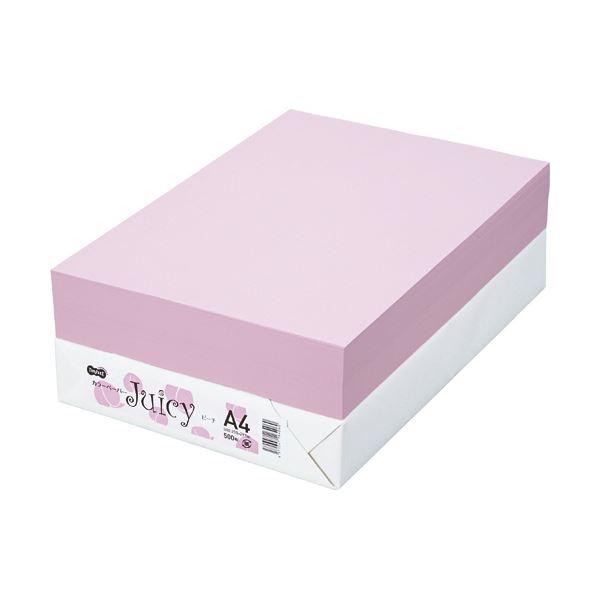 【送料無料】TANOSEE カラーペーパー Juicy ピーチ A4 500枚 【×10セット】
