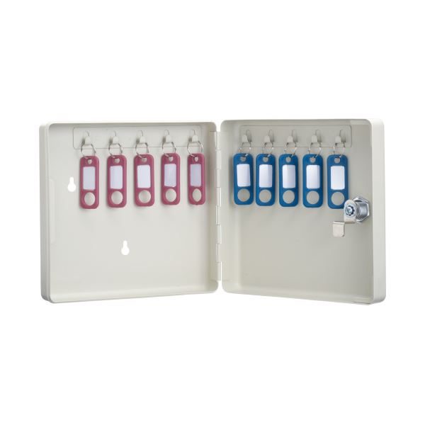 【送料無料】(まとめ)カール事務器 キーボックス コンパクトタイプ CKB-C10-I【×10セット】