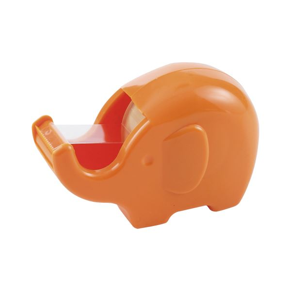 【送料無料】(まとめ) ニチバン セロテープ ぞうさんカッター アプリコットオレンジ【×50セット】