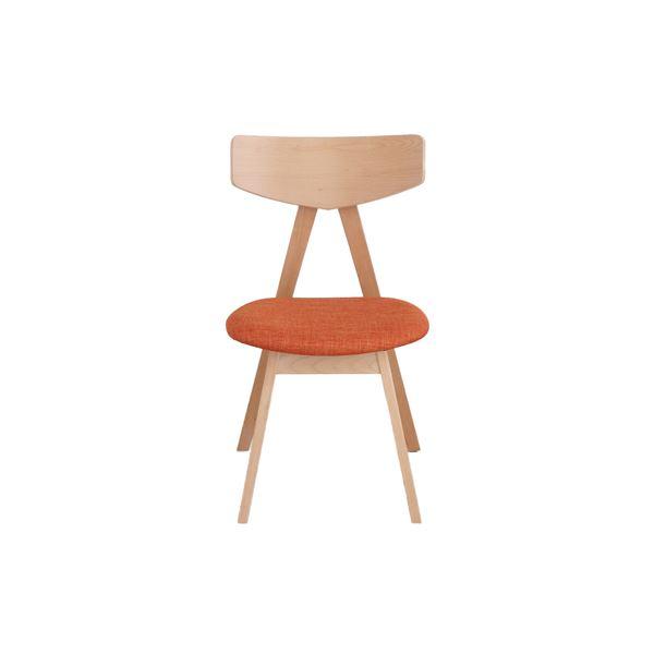 【送料無料】ダイニングチェア/食卓椅子 【オレンジ】 幅463mm 『ピン』 【組立品】 〔リビング ダイニング 居間 店舗〕【代引不可】