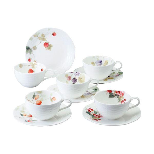 【送料無料】ナルミ ルーシーガーデン 5客アソートティー・コーヒー碗皿 B3007026