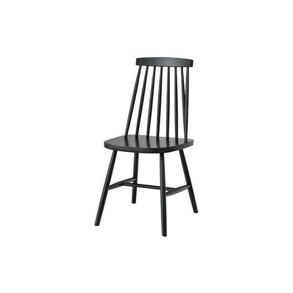 【送料無料】北欧風 ダイニングチェア/食卓椅子 2脚セット 【ブラック】 幅41×奥行51×高さ82cm 木製 〔キッチン 台所 リビング 店舗〕