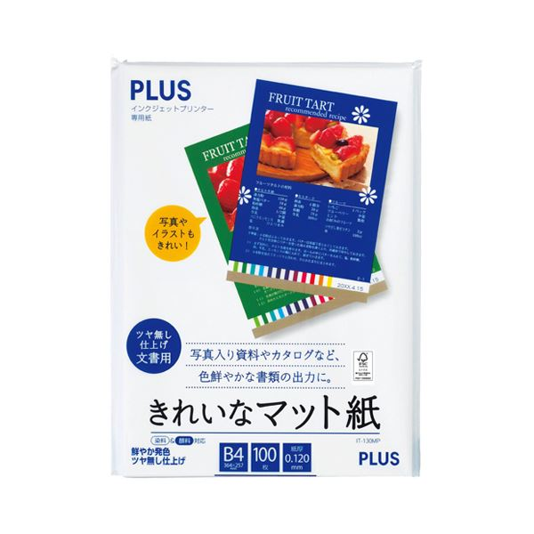 【送料無料】インクジェットプリンタ専用紙 きれいなマット紙 B4 100枚入 【×10セット】