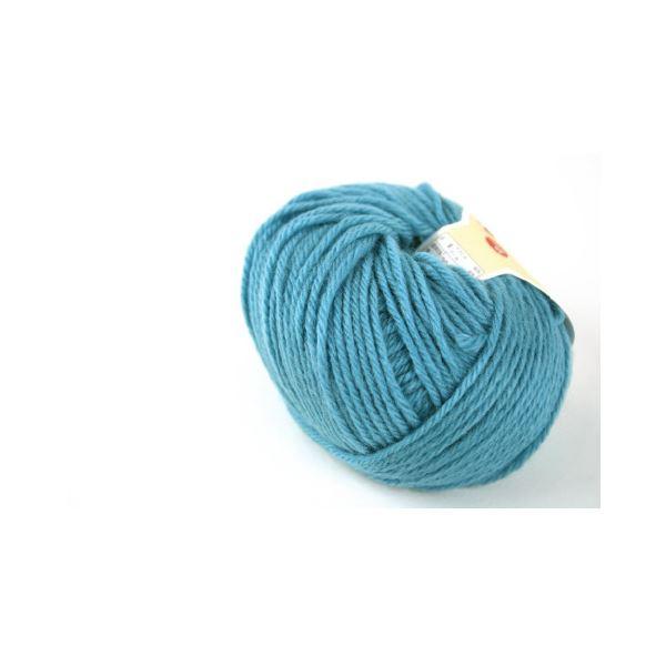 (まとめ)毛糸ままあむ#64 ブルー【×30セット】