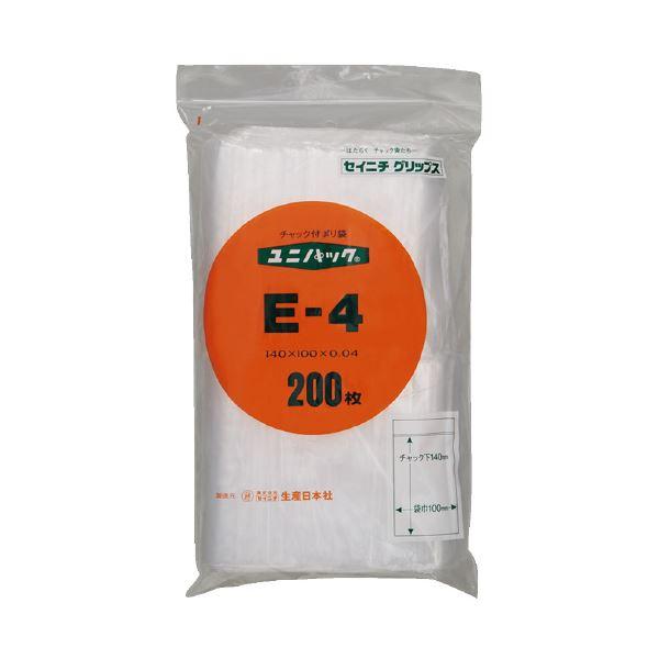 (まとめ)生産日本社 ユニパックチャックポリ袋140*100 200枚E-4(×30セット)