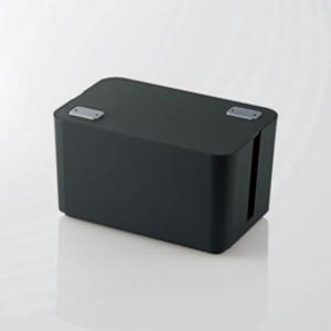 【送料無料】5個セット エレコム ケーブルボックス(4個口) ブラック EKC-BOX002BKX5