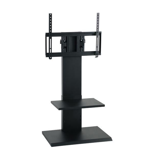 【送料無料】壁掛け風アングルテレビ台 ロータイプ ブラック 【組立品】【代引不可】