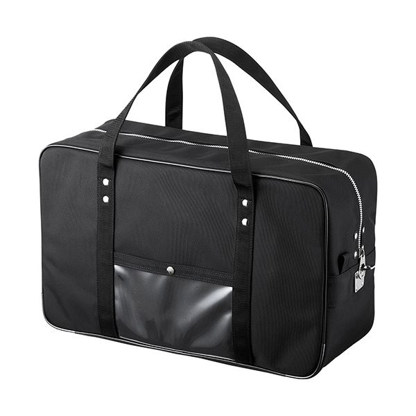 BAG-MAIL2BK 1個 ブラック メールボストンバッグLサイズ 【送料無料】サンワサプライ