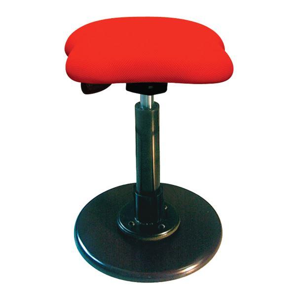 【送料無料】モダン スツール/丸椅子 【レッド×ブラック】 幅33cm 日本製 スチールパイプ 『ツイストスツールラフレシア3』【代引不可】