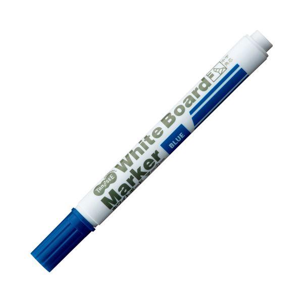 【送料無料】(まとめ) TANOSEE ホワイトボードマーカー 中字角芯 青 1本 【×300セット】