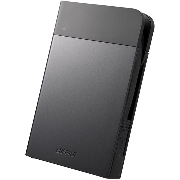 【送料無料】バッファロー ICカードロック解除 MILスペック耐衝撃ボディー防雨防塵 ハードウェア暗号化機能搭載USB3.0用 ポータブルSSD 240GB ブラック SSD-PZN240U3-BK