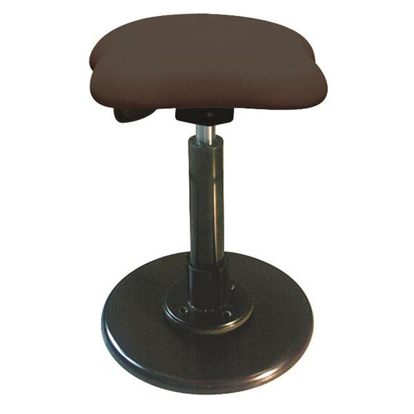 【送料無料】モダン スツール/丸椅子 【ブラウン×ブラック】 幅33cm 日本製 スチールパイプ 『ツイストスツールラフレシア3』【代引不可】