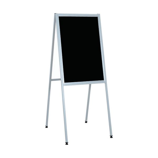 【送料無料】(まとめ)ライトベスト アルミ製案内版 片面 黒板MA23B 1台【×3セット】
