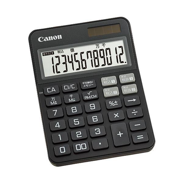 【送料無料】(まとめ) キヤノン カラフル電卓 ミニ卓上KS-125WUC-BK 12桁 ブラック 2307C001 1台 【×10セット】