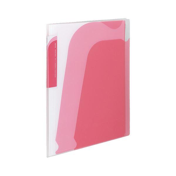 【送料無料】(まとめ) コクヨ ポケットブック(ノビータ) チャックポケット付き A4タテ 約90枚収容 背幅10~25mm ピンク ラ-N205P 1冊 【×30セット】