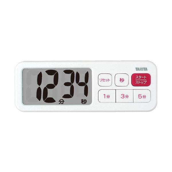 市場 見やすい文字高30mmの大型表示 送料無料 まとめ タニタ 人気上昇中 でか見えプラスタイマー ホワイト TD-395-WH ×5セット 1個