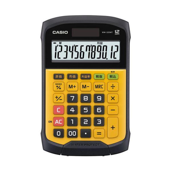 【送料無料】(まとめ) カシオ 防水・防塵電卓 12桁ミニジャストタイプ WM-320MT-N 1台 【×5セット】