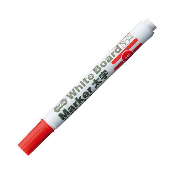 【送料無料】(まとめ) TANOSEE ホワイトボードマーカー 太字丸芯 赤 1本 【×300セット】