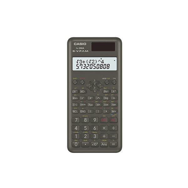 (まとめ) カシオ スタンダード関数電卓 2行表示タイプ【×5セット】