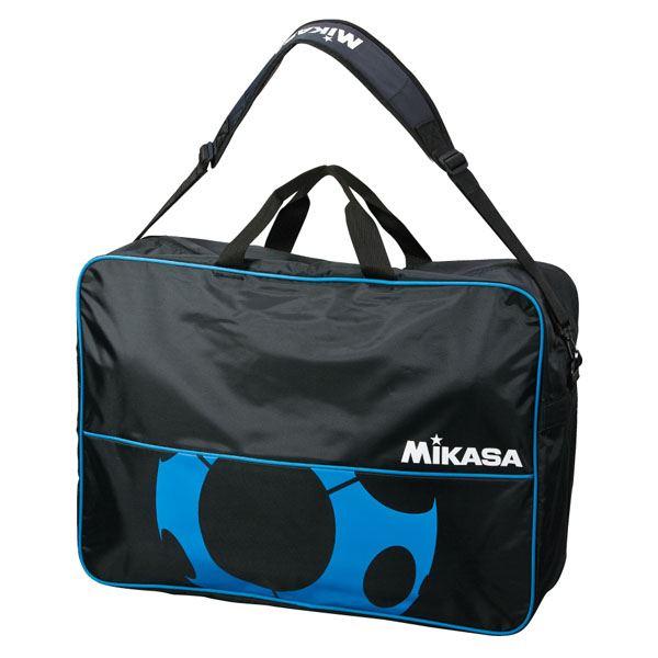【送料無料】MIKASA(ミカサ)ボールバッグ サッカーボールバッグ(6個入) ブラック×ブルー 【FS6CBKBL】