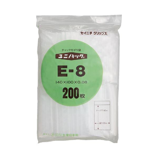 まとめ 生産日本社 ユニパックチャックポリ袋140 当店一番人気 100 ×10セット 200枚E-8 日時指定