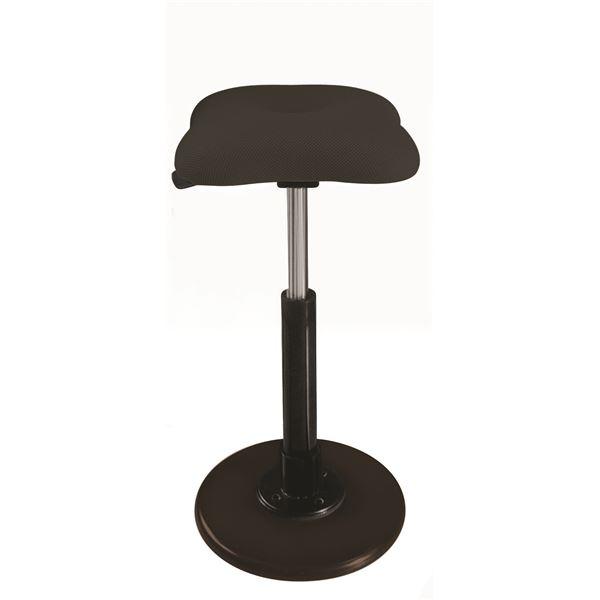 【送料無料】モダン スツール/丸椅子 【ブラック×ブラック】 幅33cm 日本製 『ツイストスツールラフレシア Kモーション』【代引不可】