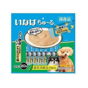(まとめ)ちゅーる20本鶏軟骨笹身チキンM14g20本 (ペット用品・犬フード)【×16セット】