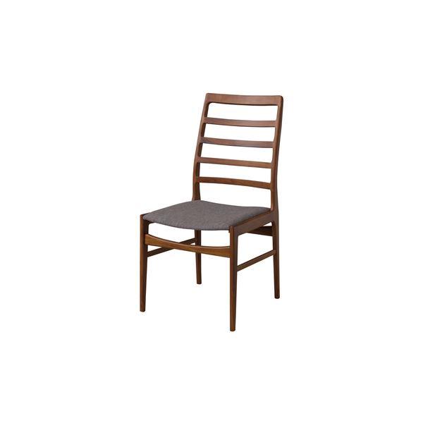 【送料無料】ダイニングチェア/食卓椅子 2脚セット 【幅56cm】 木製 ウレタン塗装 ポリエステル 〔キッチン 台所 店舗〕