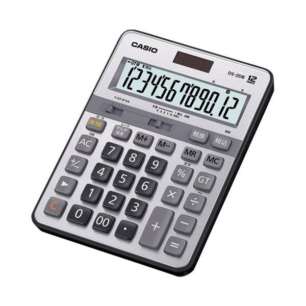 【送料無料】(まとめ)カシオ計算機 本格実務電卓 DS-2DB 12桁【×5セット】