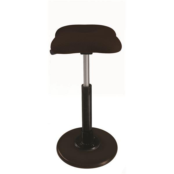 【送料無料】モダン スツール/丸椅子 【ブラウン×ブラック】 幅33cm 日本製 『ツイストスツールラフレシア Kモーション』【代引不可】