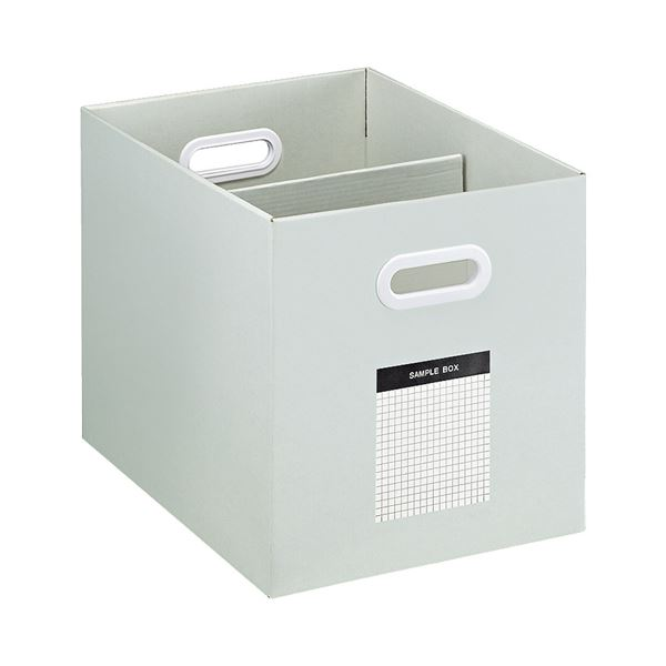 (まとめ) コクヨ サンプルボックス(ワイドタイプ)A4ヨコ 背幅256mm グレー A4-WFD-M 1個 【×10セット】